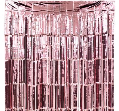 Ресни за декорация  /ПВЦ/ лъскави, цвят розово злато, 100х200см