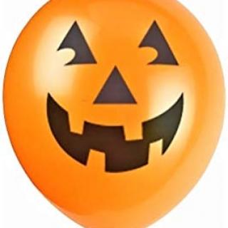 """Балон пънч Хелоуин Тиква 45 см  /18""""/, цвят оранжево 5бр. пакет"""