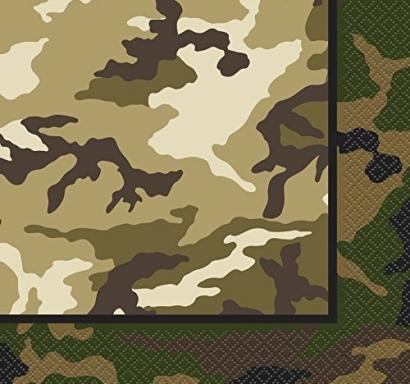 Парти салфетки Камуфлаж военни 16 бр в пакет, Military Camo