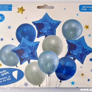 Комплект 10 бр. балони  - 3бр фолио, 7бр пастел