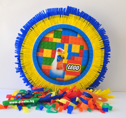 Пинята Лего строителни блокчета, две лица 40х40 см