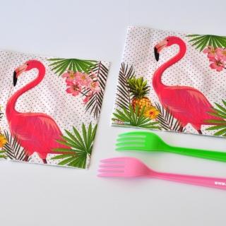 Парти салфетки Фламинго 33х33 см, лицензирани