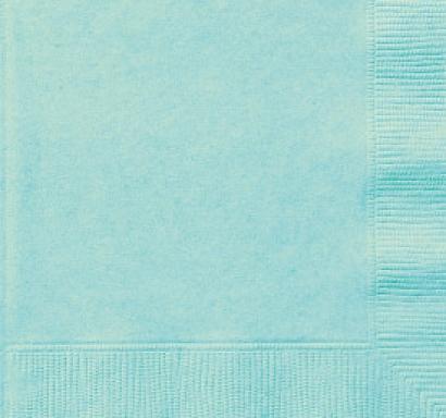 Парти салфетки цвят мента, 20 бр в пакет