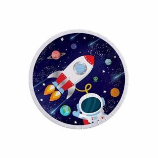 Хартиена парти чинийка Космос, 8бр. в пакет