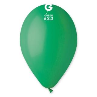 Балон  цвят тъмно зелен пастел, диаметър 26 см, 10 бр. в пакет Gemar Италия