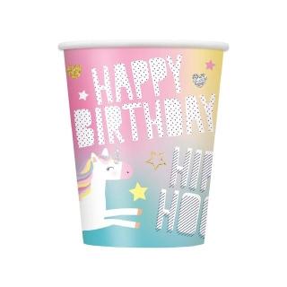 Хартиена парти чашка Еднорог 250 мл, Unicorn