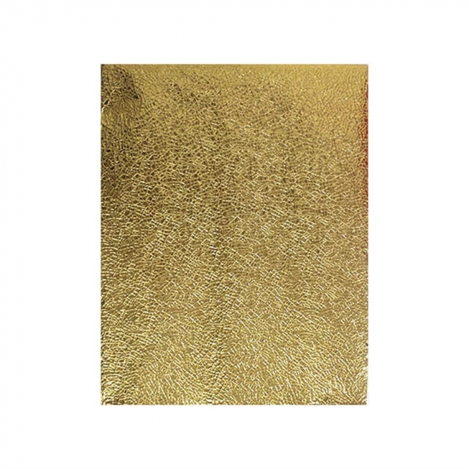 Покривка за еднократна употреба релефна - метализиран гланц, цвят злато 120х180 см