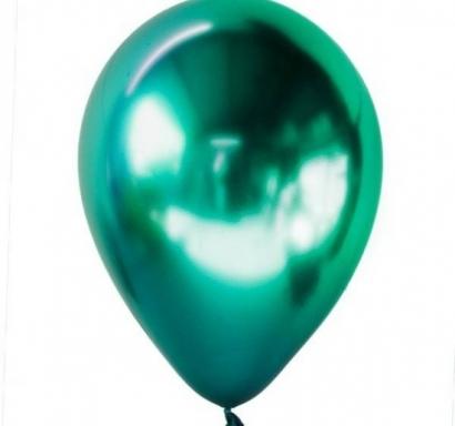 Балон хром зелен, диаметър 13 см, 10 бр в пакет