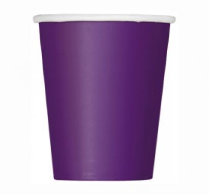 Хартиена парти чашка тъмно лилава 250 мл, 14 бр. в опаковка