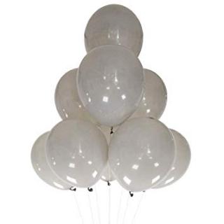 Балон сив пастел, диаметър 30 см, 10 бр. в пакет