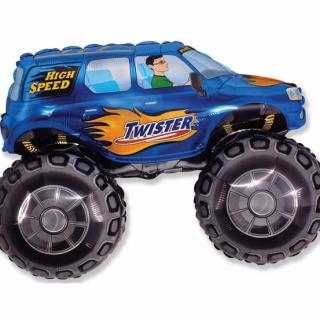 Фолиев балон Гигантски Джип  Кола  цвят син / Car Twister 96 см, Flexmetal /Gd/