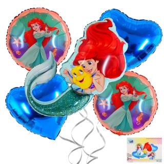 Комплект 5 бр. фолиеви балони Ариел Русалка