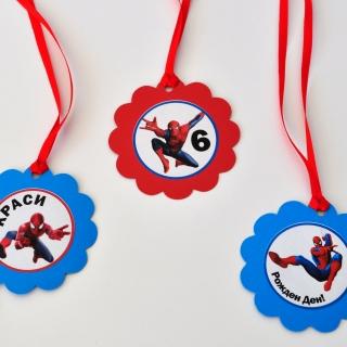 Персонализиран парти медальон  Спайдърмен