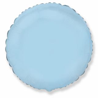 Фолиев балон кръг цвят светло син, 45 см Flexmetal, /Gd/