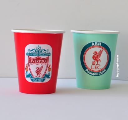 Персонализирана хартиена парти чашка 250 мл Ливърпул