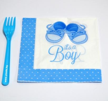 Парти салфетки Бебе момче 33х33 см