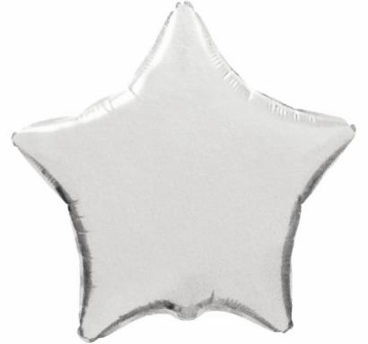 Фолиев балон звезда цвят сребро, 46 см Flexmetal, /Gd/