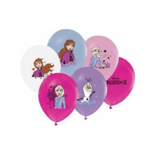 Балон с печат Елза и Ана Замръзналото Кралство 2, диаметър 30 см, 5 бр. в пакет, лицензирани