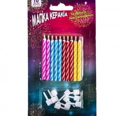 Свещички за рожден ден - магически, негаснещи  10бр в пакет