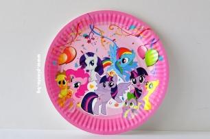 Хартиена парти чинийка Малкото Пони
