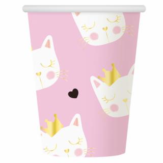 Хартиена парти чашка Коте / Cat 270 мл, 6 бр. в опаковка /Gd/
