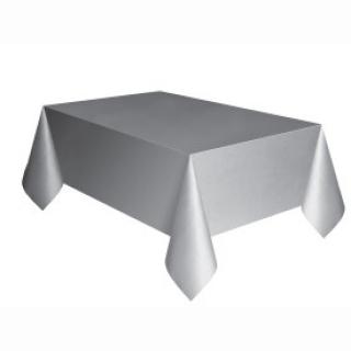 Покривка за еднократна употреба, сребърна 137х274 см