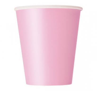 Хартиена парти чашка светло розова 250 мл