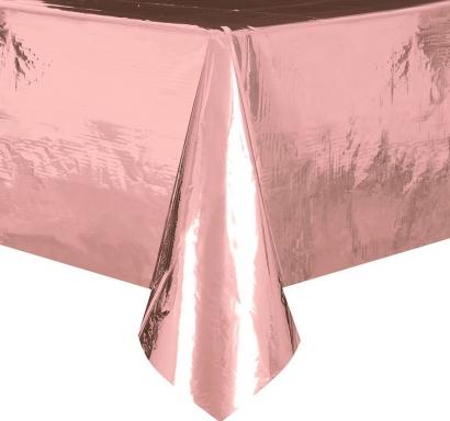 Покривка за еднократна употреба, розголд, розово злато гланц 137х274 см