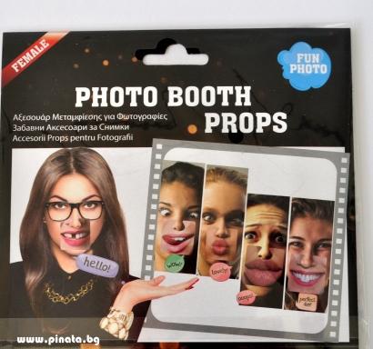 Пропсове за забавни снимки Женска уста различни, 5 бр комплект