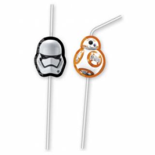 Парти сламки с облър Междузвездни Войни / Star Wars the Force Awakens, 6 бр. в опаковка /Gd/