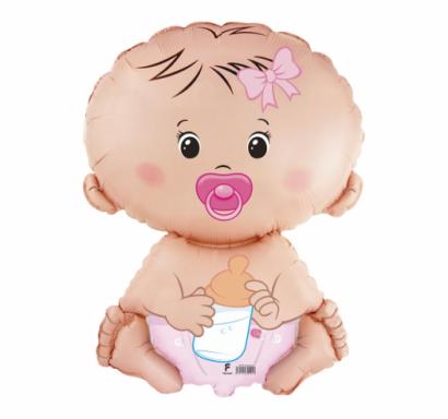 Балон Бебе - Момиче розов, 67 см Flexmetal /Gd/