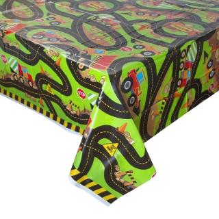 Покривка за еднократна употреба Строителни машини, камион, багер, бетоновоз, 137х213 см / Construction Party