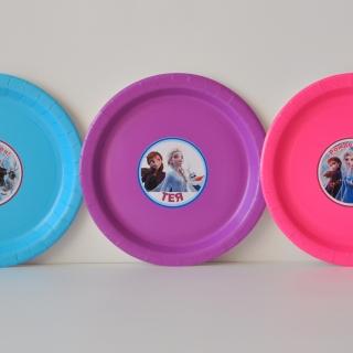 Персонализирана хартиена парти чинийка Замръзналото Кралство 2 Елза и Ана