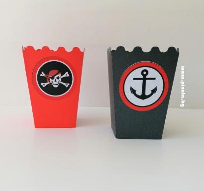 Кутийка за пуканки Пират Пиратско парти