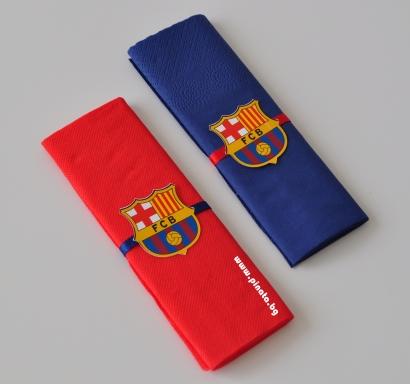 Тематични парти салфетки Барселона 33х33 см