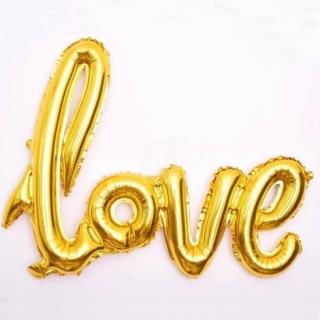 Фолиев балон фигура LOVE, 100х60 см злато