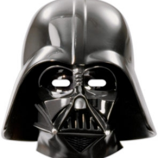 Парти маски Дарт Вейдър Междузвездни Войни, 6бр. пакет, лицензирани Дисни