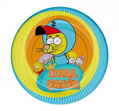 Хартиена парти чинийка Крал Шакир / Kral Sakir 23 см, 8 бр. пакет