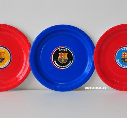 Персонализирана хартиена парти чинийка Барселона
