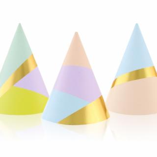 Парти шапка Пастел / Pastels,  6 бр. в опаковка /Gd/