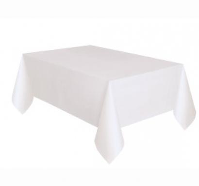 Покривка за еднократна употреба, бяла 137х274 см