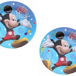 Хартиена парти чинийка Мики Маус, 10 бр. в опаковка
