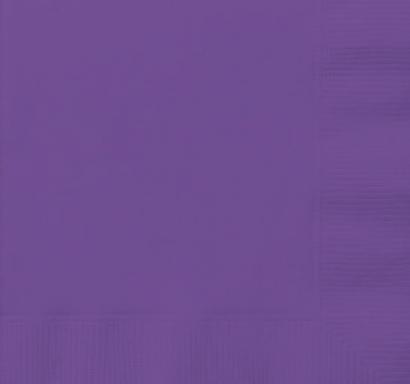 Парти салфетки лилави неон, 20 бр в пакет