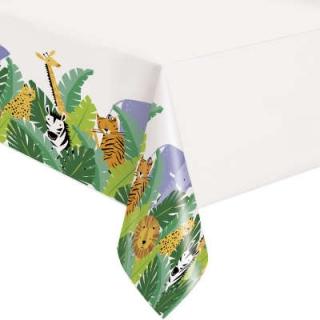 Покривка за еднократна употреба Сафари, джунгла, животни, 137х213 см / Animal Safari