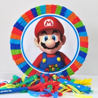 Пинята Супер Марио, две лица 40х40 см