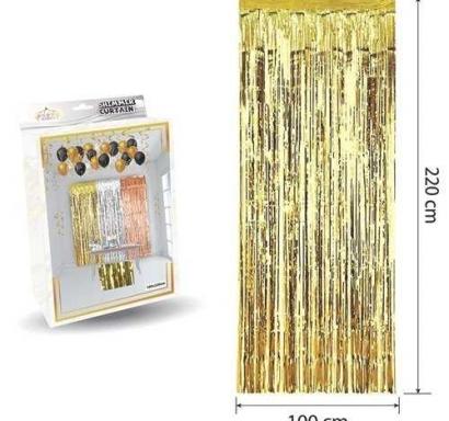 Ресни за декорация  /ПВЦ/ лъскави, цвят злато 100х220см