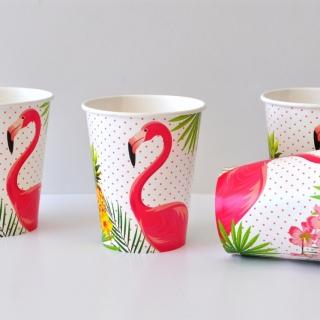 Хартиена парти чашка Фламинго, лицензирани