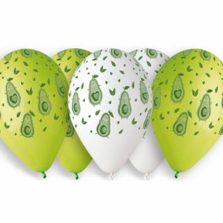 Комплект 5 бр. премиум балони Авокадо / Awokado, микс цветовe  /Gd/