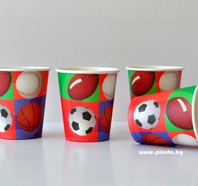 Хартиена парти чашка Топки Спорт