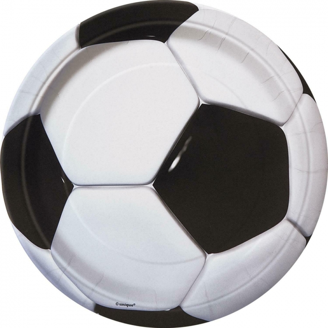 Хартиена парти чинийка 3D Футбол / 3D Soccer, 23 см лиценз